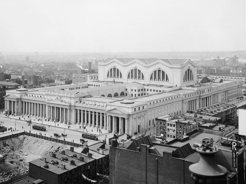 Aerial view of Pennsylvania Station