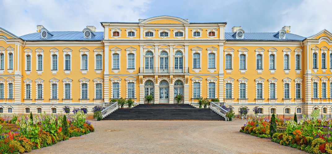 The palace of Rundale, Latvia