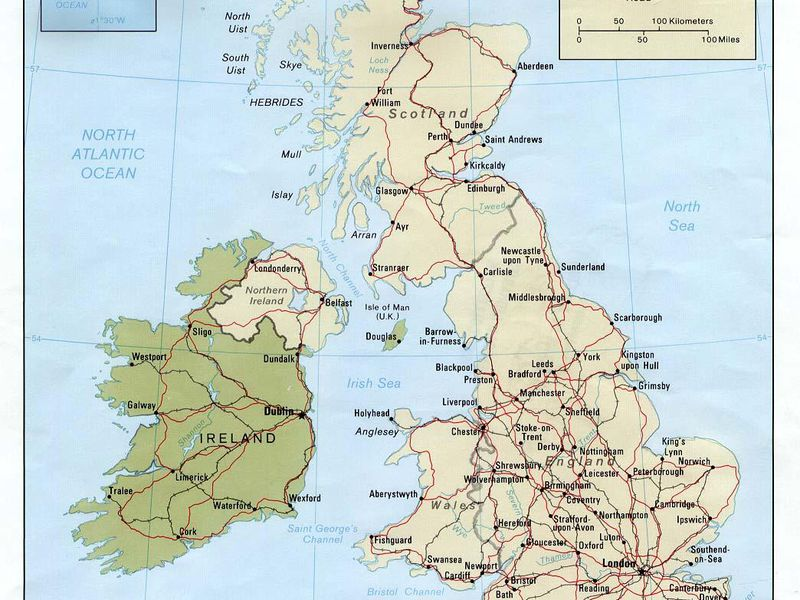 Whats The Difference Between England Britain And The UK - United kingdom europe map