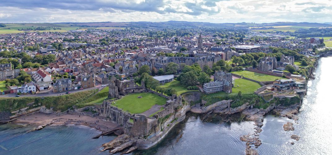 The town and coastline of St. Andrews