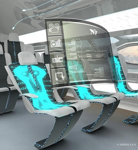 "Shape-shifting ""smart"" seating and holographic entertainment"