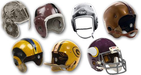 A chronology of NFL helmets