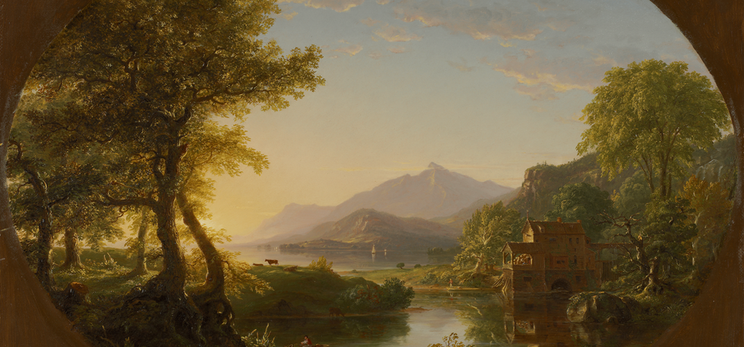 Thomas Cole (1801-1848), <i>The Mill, Sunset</i>, 1844. Credit: Nelson Atkins Museum of Art