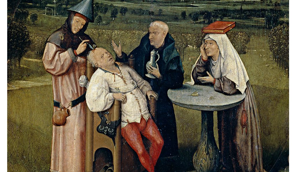 An early depiction of trepanation in the painting