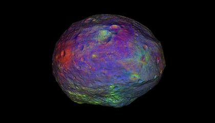 3D map of Vesta