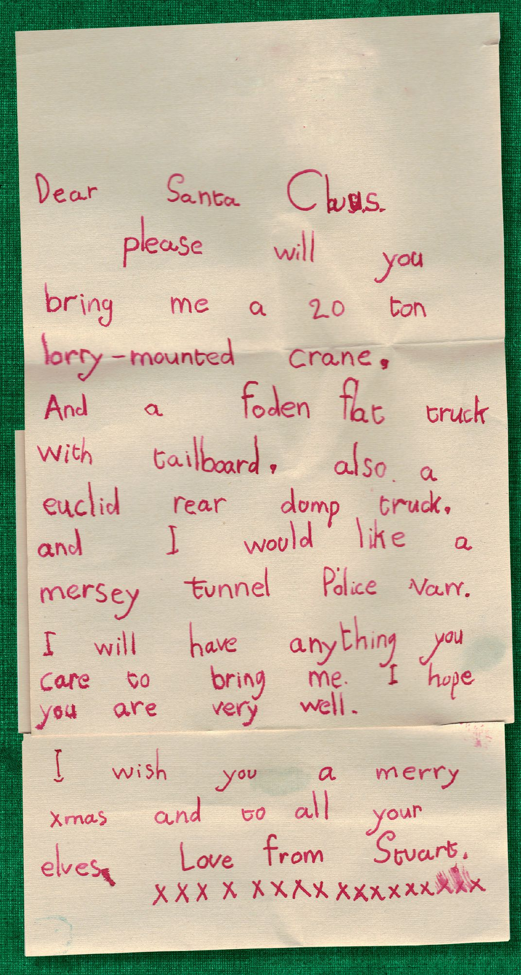 a letter to santa from the 1950s santa claus museum and village