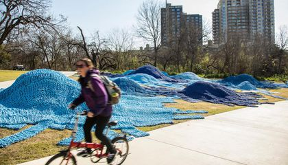 This Massive Installation in an Austin Park Is Made of Over a Million Feet of Recycled Lobster Rope