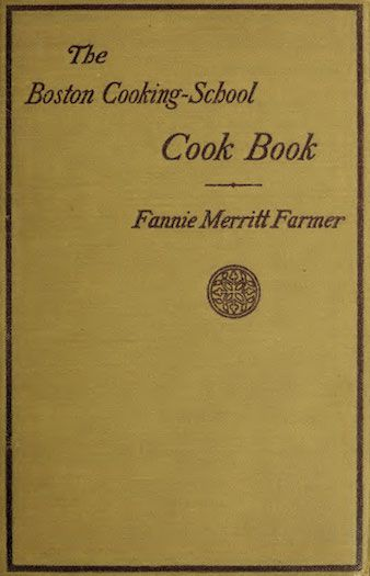 Cover of 1919 edition of The Boston Cooking-School Cook Book by Fannie Merritt Farmer