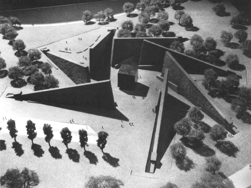 Marcel Breuer's proposed Roosevelt Memorial