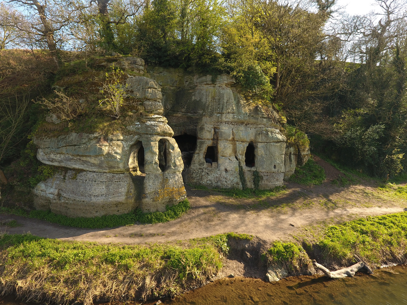 View of the cave dwelling in Derbyshire