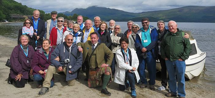 Smithsonian travelers at Loch Lomond. Credit: Katherine Forsyth