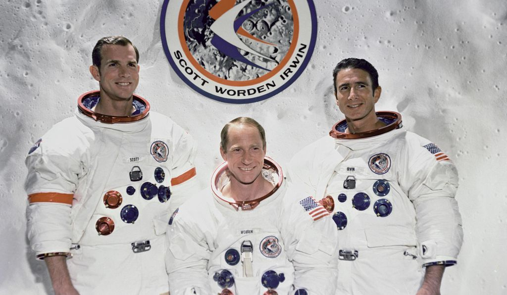 Al Worden (center) calls Apollo 15 crewmate Dave Scott (left) possibly the best of the Apollo commanders. Jim Irwin he remembers for his quiet competence.