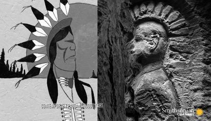 What Do Native American Carvings in French WWI Quarries Mean?