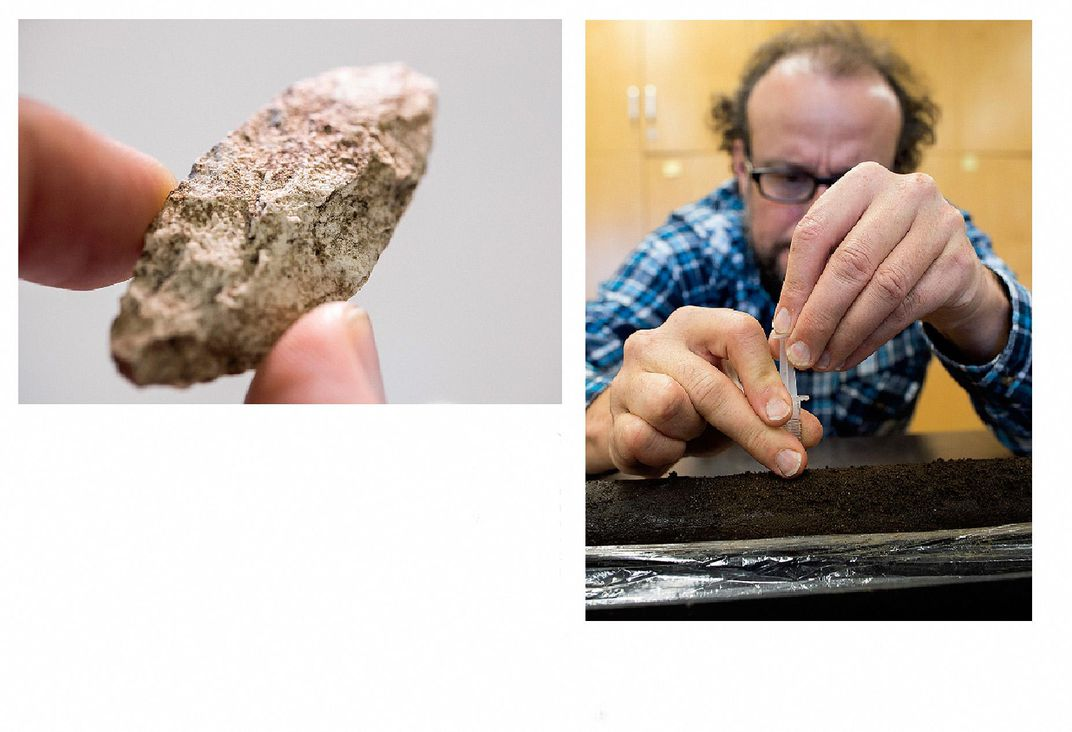 Spear point and Sample