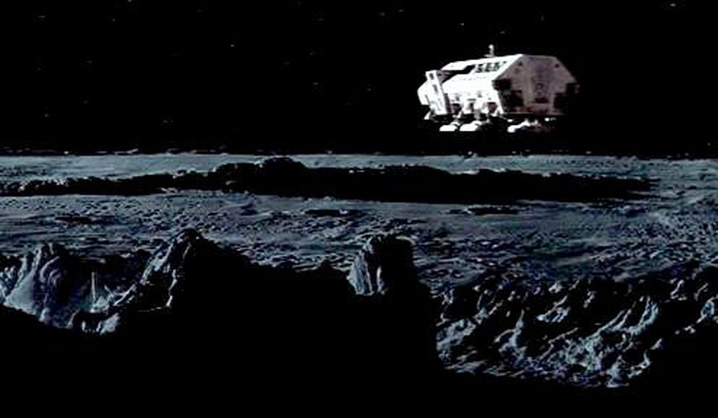 "The ""Moon bus"" from the film 2001: A Space Odyssey."