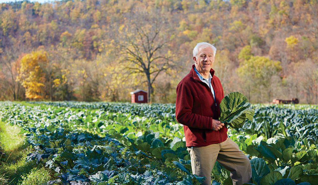 Farmer Jim Crawford of New Morning Farm in Hustontown, PA, one of the farmers featured in the book.