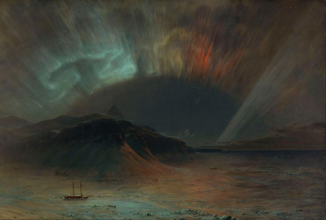 Frederic Church painting of Northern Lights