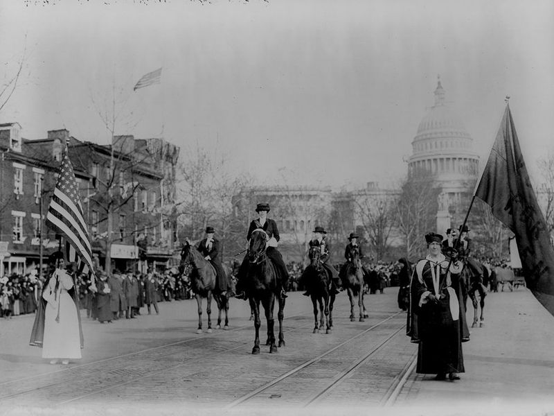 The Original Womens March On Washington And The Suffragists Who