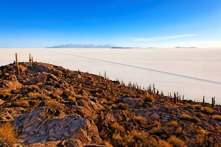 Salt flats in South America contain much of the world's lithium.