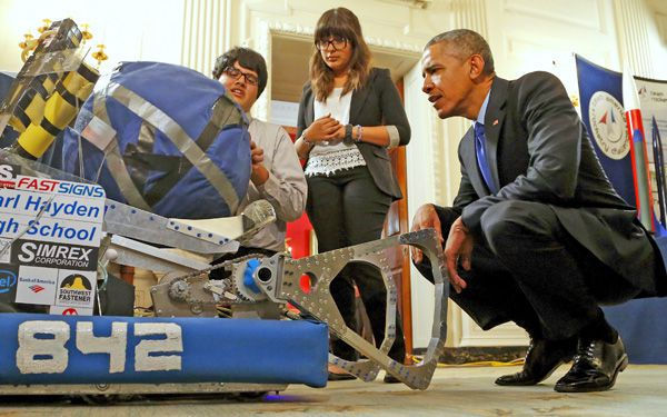Young scientists impress Obama at White House