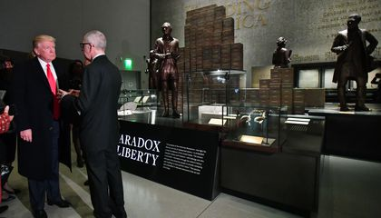 President Trump Visits the African American History Museum