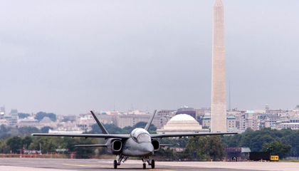 How Did This Mean-Looking Jet Get Permission to Land In Washington D.C.?