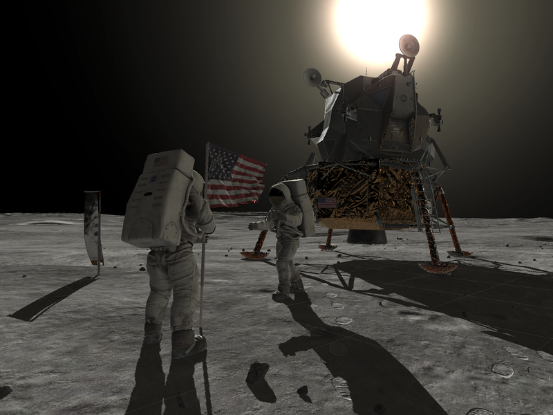Augmented reality on the Moon