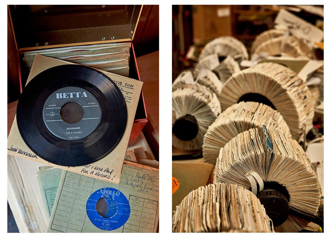 record and rolodex