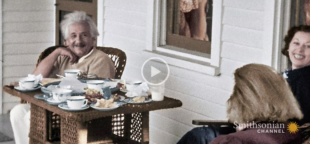 Caption: Einstein's Life in America Shown in Stunning Home Movies