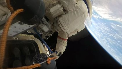 Cosmonauts Shoot First 360 Video of a Spacewalk