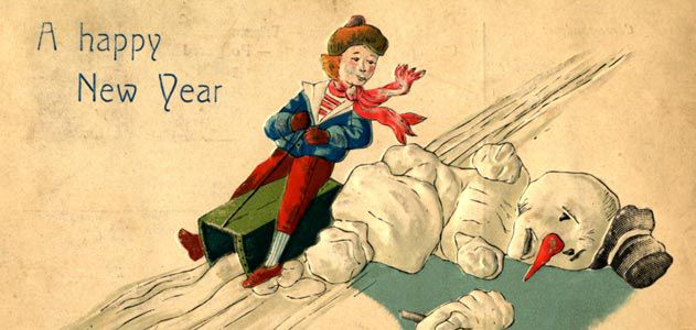 Outrageous Postcards and Ads of Snowmen Gone Wild | Arts
