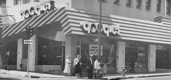 Googies coffee shop, downtown Los Angeles (1955)