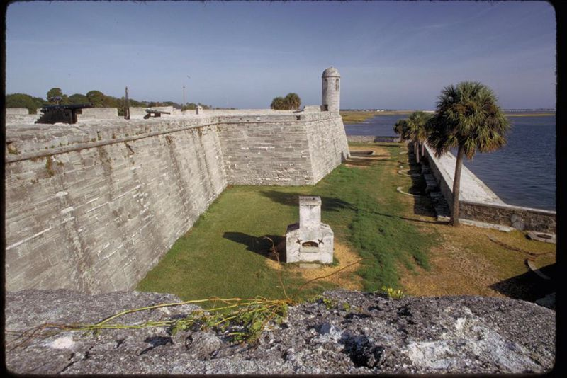 Castillo de San Marcos, a Spanish fort in St. Augustine, FL constructed in 1695