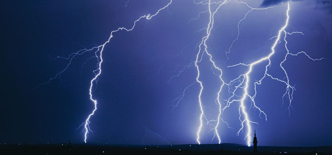 Caption: Could Straight Lightning Be a Sign of Dark Matter?