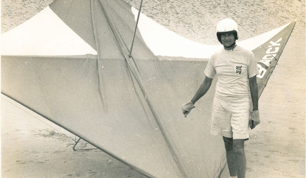 Francis Rogallo started flying hang gliders in 1974, at the age of 62, on the famous Outer Banks sand dunes, where the Wright Brothers first achieved sustained flight.