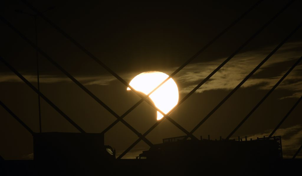 Partial eclipse view from Brazil.