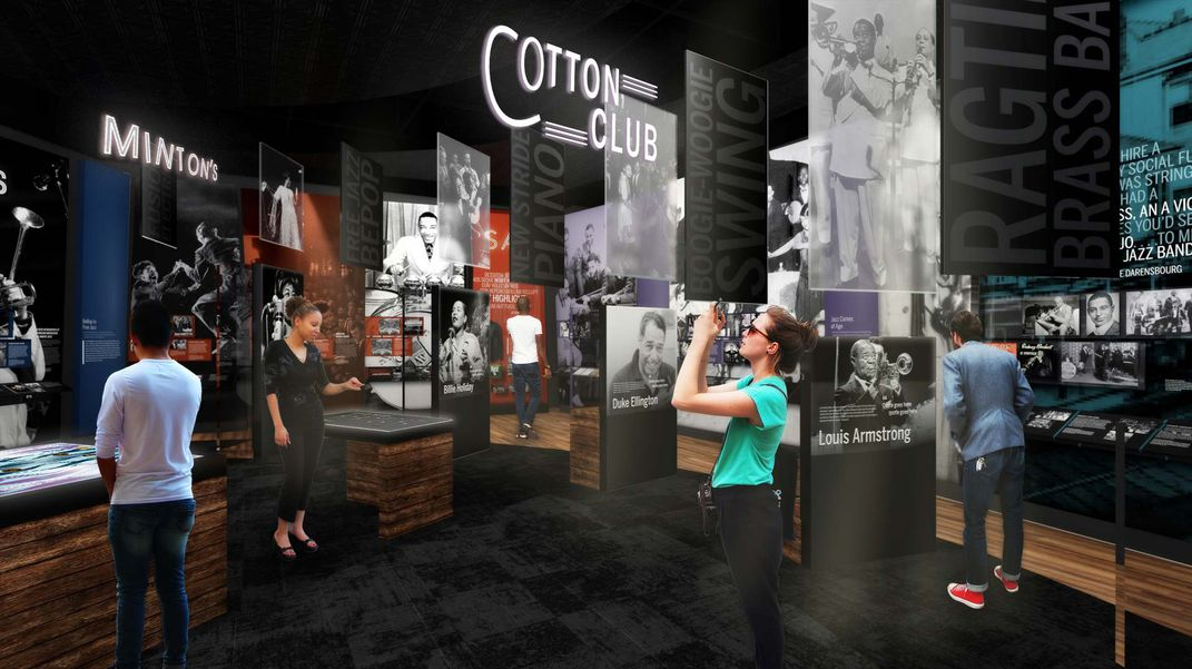 Artist's rendering of Harlem Renaissance display at the museum