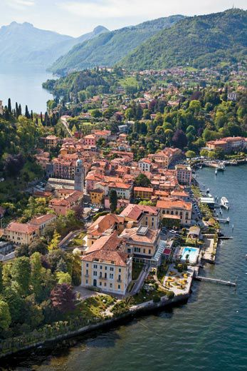 4976a11b8bd The town of Bellagio is on a promontory at the junction of the lake s two  arms. Noted for its silk shops as well as its idyllic setting
