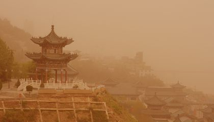 Photos: A Massive Sandstorm Swept Across Northern China