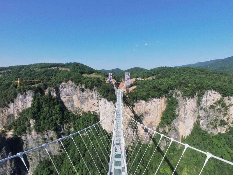 the newly opened glass bridge in zhangjiajie forest park zhangjiajie grand canyon tourism management company - Zhangjiajie Glass Bridge