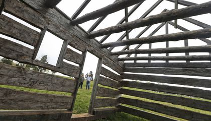 Image: Slave quarters rebuilt at Madison's Montpelier