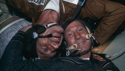 With the Apollo-Soyuz Handshake in Space, the Cold War Thawed a Little