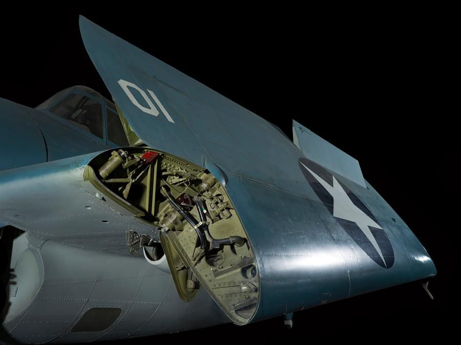 Wildcat fighter aircraft wing