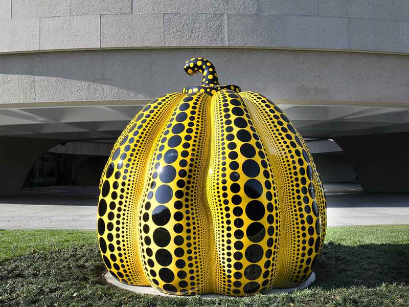 this great pumpkin heralds the d c arrival of yayoi kusama at the