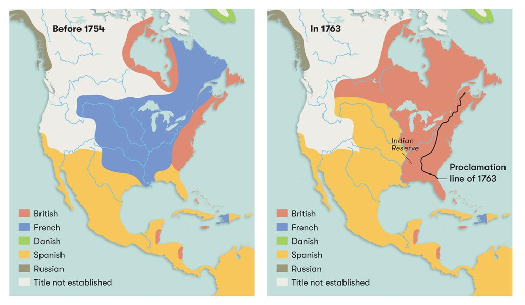 In the mid-18th century, the French presence in North America dwindled as a result of the French and Indian War.