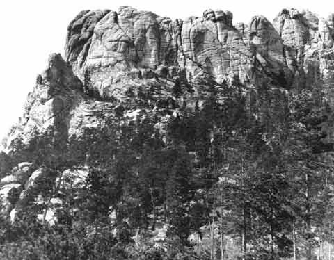 Mount Rushmore before carving