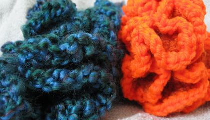 A Coral Reef Constructed From Yarn