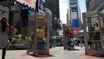 Phone Booths Are Back in Times Square—And This Time, They're Telling Immigrant Stories