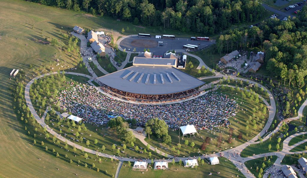 The pavilion of Bethel Woods Center for the Arts