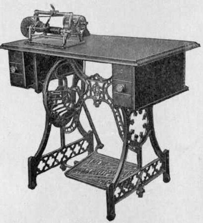 A treadle-operated graphophone
